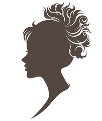illustration vector of women silhouette icon on white background