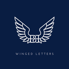 Winged letters