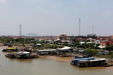 A general view of Shazai Island in Guangzhou, China