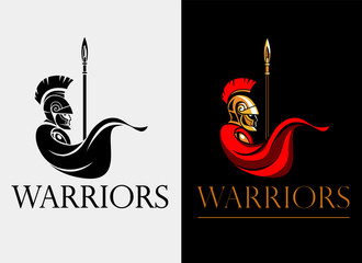 Spartan warrior with spear