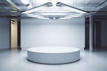 Light interior with podium