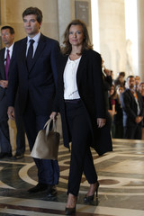 Valerie Trierweiler, companion of France's President Francois Hollande, attends the inauguration of the new Department of Islamic Arts galleries at the Louvre museum in Paris