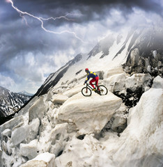 racer on avalanche