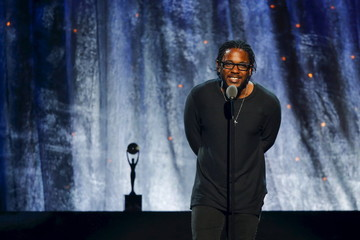 Musician Lamar inducts N.W.A. at the 31st annual Rock and Roll Hall of Fame Induction Ceremony at the Barclays Center in Brooklyn, New York