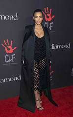 Television personality Kardashian poses at the First Annual Diamond Ball fundraising event at The Vineyard in Beverly Hills