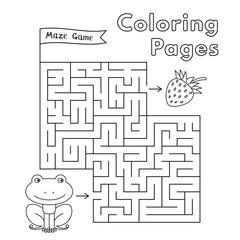 Cartoon Frog Maze Game
