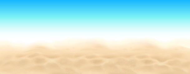 Beach sand and sky vector landscape background
