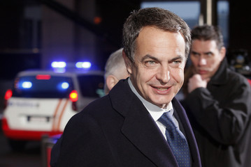 Spain's Prime Minister Zapatero arrives at an informal European Summit in Brussels