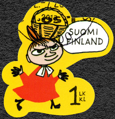 FINLAND - 2013: shows Mymble's daughter, Moomin Favorites