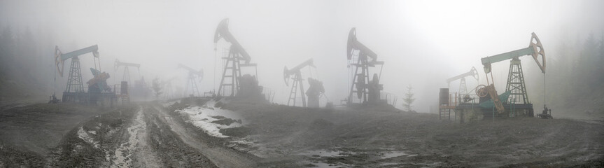 Oil pumps in the mountains