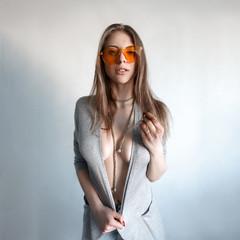 Sexy girl in Orange glasses