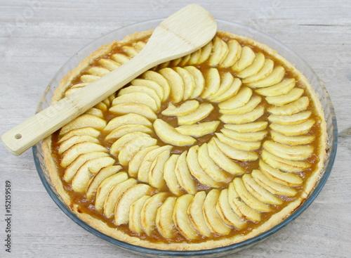 Tarte aux pommes faite maison la compote imagens e - Tarte aux pommes compote maison ...