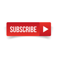 Subscribe button red vector