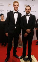 German beach volleyball players Brink and Reckermann arrive for Bambi Awards 2012 in Duesseldorf
