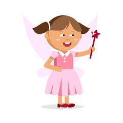 Cute little fairy girl with Magic wand