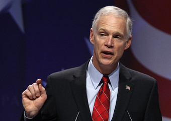 U.S. Senator Johnson gestures while speaking to the 38th annual Conservative Political Action Conference meeting at the Marriott Wardman Park Hotel in Washington