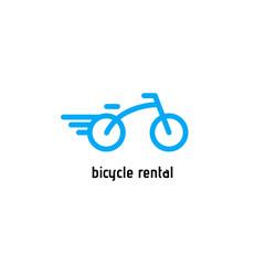 Bicycle vector logo. Design template