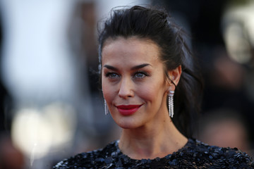 """Actress Megan Gale poses on the red carpet as she arrives for the screening of the film """"Youth"""" in competition at the 68th Cannes Film Festival in Cannes"""