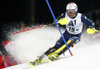 Thaler of Italy skis during the men's Alpine Skiing World Cup slalom in Schladming