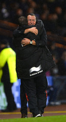 Belgium's coach Wilmots reacts after a 2014 World Cup qualifying soccer match against Scotland at Hampden Park Stadium in Glasgow