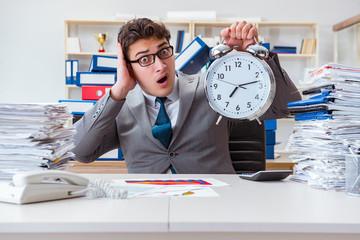 Businessman failing to meet tough deadline