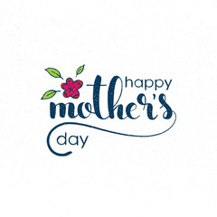 Happy Mother's Day handwritten lettering