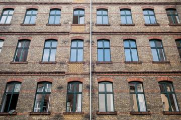 backyard , facade of old building in Berlin