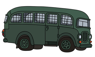 Funny old prison bus