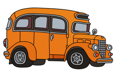 Old orange bus