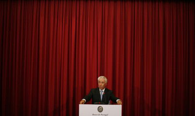 "Portugal Central Bank Governor Costa attends a news conference to comment on the results of European banks' ""stress test"" in Lisbon"