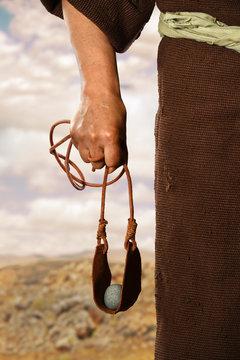 Hand of David Holding Slingshot