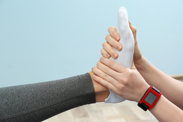Physiatrist doing foot massage