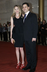 Kimmel and his fiancee McNearney arrives on the red carpet at the Kennedy Center on the occasion of the awarding of the Mark Twain Prize to comedian Ellen DeGeneres in Washington
