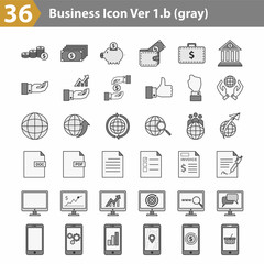 36 Business icon Grayscale