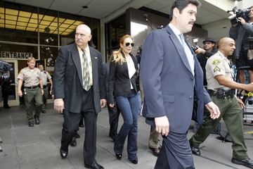 Lohan leaves Beverly Hills Municipal Court after a probation violation hearing in Beverly Hills