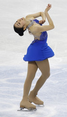 Kim of South Korea performs during the women's free skate event at the World Figure Skating Championships in Turin