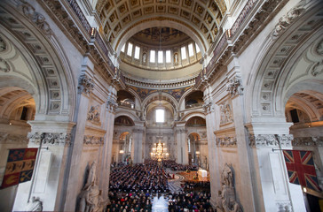 A general view shows the National Police Memorial Service being held at St Paul's Cathedral in London