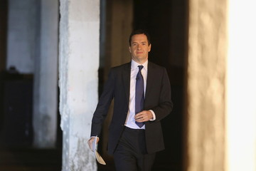 Chancellor of the Exchequer George Osborne arrives to deliver his speech on the 'Northern Powerhouse' at Victoria Warehouse, Trafford in Salford