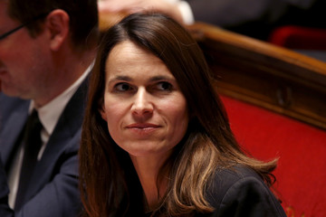 French Culture Minister Aurelie Filippetti attends the questions to the government session at the National Assembly in Paris