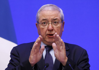 Ile-de-France regional president Jean-Paul Huchon attends a news conference on COP21 World Climate Summit security, following the Paris attacks, at the Interior Ministry in Paris