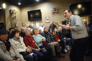 U.S. Republican presidential candidate Cruz speaks during campaign stop in Carroll, Iowa