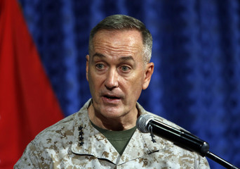 ISAF commander General Joseph Dunford speaks during a news conference in Kabul
