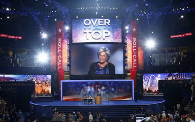 Votes from Ohio put U.S. President Barack Obama over the top to secure the 2012 Democratic presidential nomination during the roll call vote during the second session of the Democratic National Convention in Charlotte