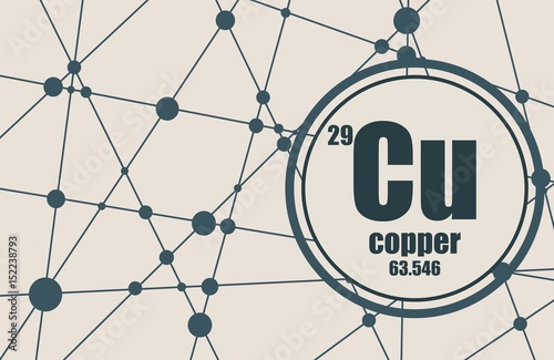 Copper chemical element sign with atomic number and atomic weight copper chemical element sign with atomic number and atomic weight chemical element of periodic urtaz Image collections