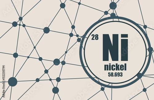 Nickel chemical element sign with atomic number and atomic weight nickel chemical element sign with atomic number and atomic weight chemical element of periodic urtaz Images
