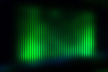 Glowing neon green abstract with light lines blurred background