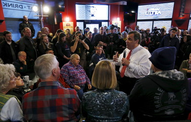 U.S. Republican presidential candidate New Jersey Governor Chris Christie speaks at a campaign event in Ames, Iowa, United States