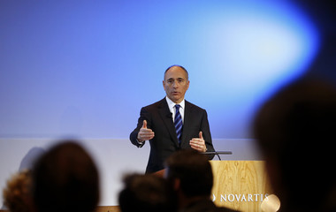 CEO Jimenez of Swiss drugmaker Novartis addresses the company's annual news conference in Basel