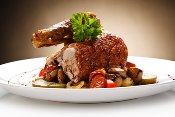 Roast duck meat