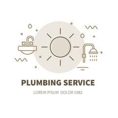 plumbing service illustration concept